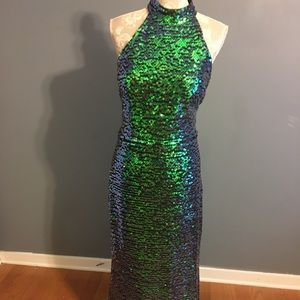 Jovani sequin gown size 14